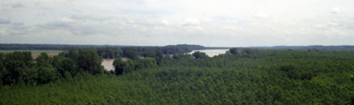 View of the confluence of the Osage and Missouri Rivers