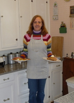 Your innkeeper, Sandra, with your hearty country breakfast.